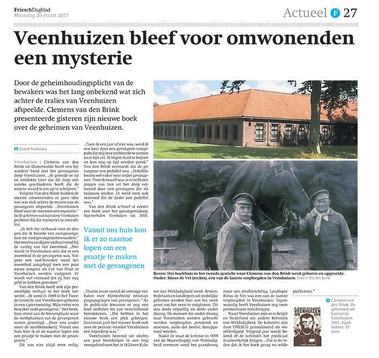 De geheimen uit bajesdorp Veenhuizen FD 20-3-2